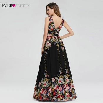 Floral Printed Elegant Prom Dresses Ever Pretty A-Line V-Neck Sleeveless Sexy Formal Party Dresses EP09016BP Vestidos De Gala 2