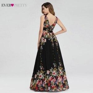 Image 2 - Floral Printed Elegant Prom Dresses Ever Pretty A Line V Neck Sleeveless Sexy Formal Party Dresses EP09016BP Vestidos De Gala
