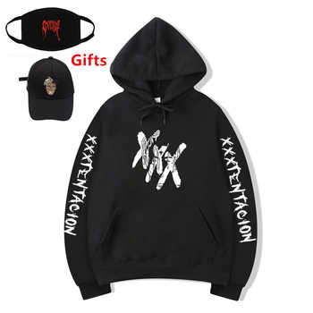 Cap&Mask as Gifts Rapper XXXTentacion hoodies sweatshirt inner fleece warm men women hip hop Bboy DJ dancer tracksuits coat - DISCOUNT ITEM  19% OFF Men\'s Clothing