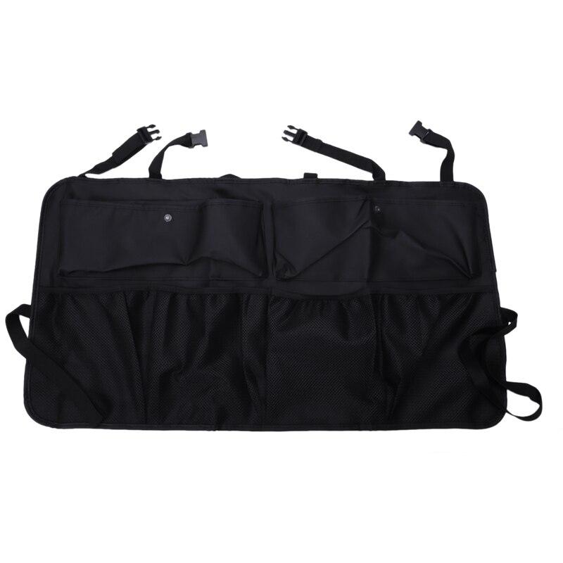 Car Trunk Organizer Adjustable Backseat Storage Bag Multi-Use Leather Automobile Seat Back Organizers Universal Bottle Pocket(China)