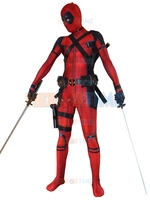 2016 Newest Red X Force Deadpool Costume 3D Printed Spandex Lycra Halloween And Cosplay Fullbody Zentai