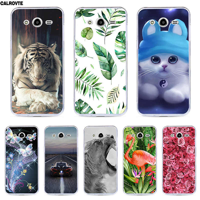 "For Samsung Galaxy Core 2 Duos SM-G355H DS G355M SM-G355h ds Duos 4.5"" Case Silicone Soft Covers Cartoon Flower Phone Bags Cases"