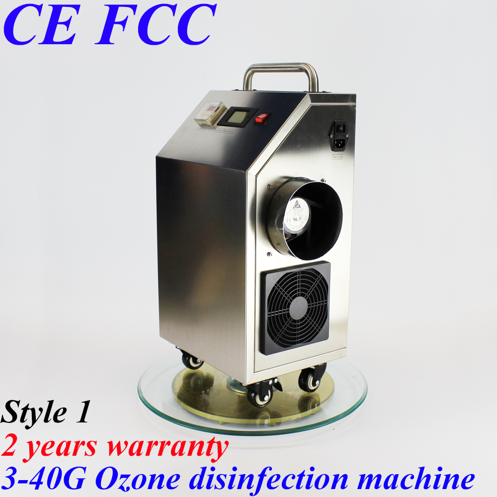 Pinuslongaeva CE EMC LVD FCC 20g/h 40grams stainless steel shell ozone disinfection machine air purification and deodorization