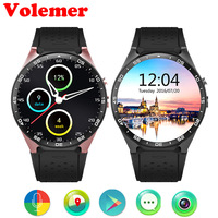 Volemer KW88 3G WIFI Smartwatch Cell Phone Bluetooth Smart Watch Phone Android 5 1 SIM Card