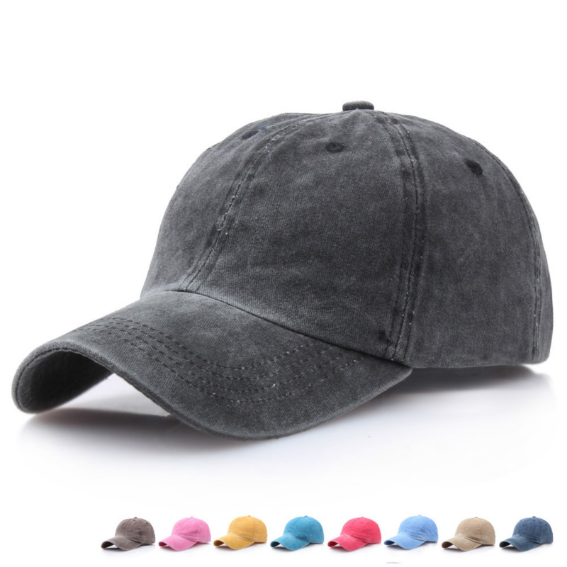 8 Mixed colors Washed Denim Snapback Hats Autumn Summer Men Women   Baseball     Cap   Golf Sunblock Beisbol Casquette Hockey   Caps