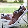 2016 brand tide shoes Korean men's casual shoes fashion flat lace 39-44 Zapatos hombres