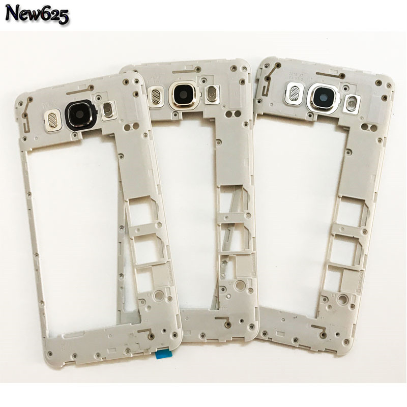 Original For Samsung Galaxy J7 J710 2016 Middle Frame Housing Chassis Plate With Back Camera Glass Lens