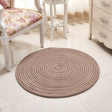 EHOMEBUY 2018 New Carpet Striped Round Living Room Floor Rug Home Hotel Handmade Carpets Protection