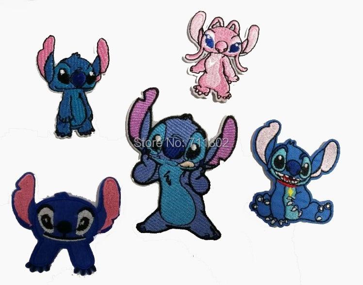 4484 Stitch Amor ángel Hierro En Parche Lilo Stitch Animal Dibujos Animados Bordado Parche Apliques Badg Tela Parches Venta Al Por Mayor 100