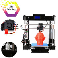 ZRPrinting New Desktop Material Acrylic Frame 3D Printer Support SD Card A8 Y8 Model 1.75mm ABS/PLA Filament