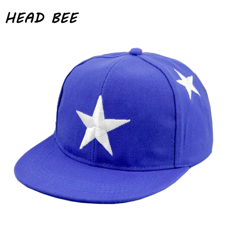 [HEAD BEE] Fashion Baseball Cap Embroidery Stars Cartoon Hat 2018 Hip Hop Cap Children Casquette for Boy and Girl discount hot wholesale boy girl kid fashion hip hop snapback hat embroidery character style active novelty children baseball cap
