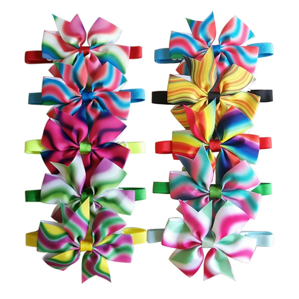 New 100pcs Pet Supplies Hand Made Dog bow tie Pet Dog Cat Tie Bowties Dog decoration