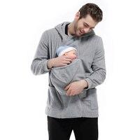 2017 Hoodies do Outono do bebê dormir Multi-funcional Removível Com Zíper Cor Sólida Camisolas Afago Canguru Bolsa Gato de Estimação Moletom Com Capuz