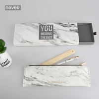 Never Marble Metal Magnet Pen Pencil Bag Brass Ruler Stationeries Set Gift Stationery For Girls Busines Office & School Supplies