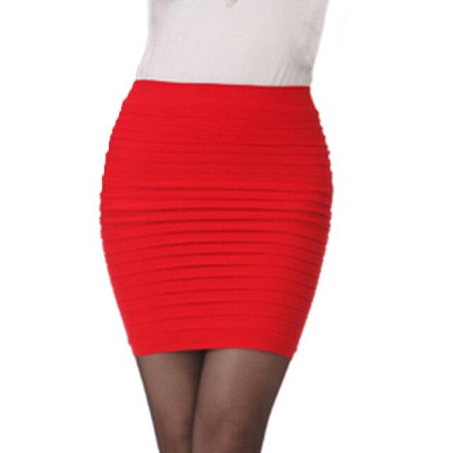 Mujeres elástico Plissee plisado corto Micro falda alta cintura Mini lápiz Bodycon  falda señoras faldas Gonne 3763be1c9545