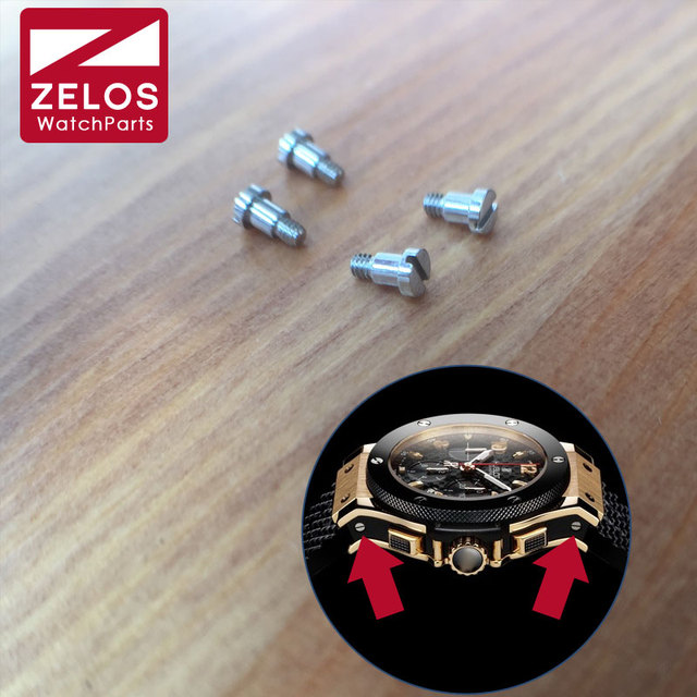 4pieces/set steel HUB watch screw for Hub bigbang watch case side broadside fix screw aftermarket parts