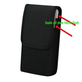مزدوجة هاتف محمول الخصر حزمة ، ل iphone 6splus 5.5 بوصة النايلون كيس مزموم مع حزام كليب الحافظة حالة ل غالاكسي ملاحظة 5 s7 حافة
