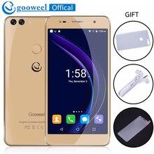 Gooweel m8 smartphone d'empreintes digitales id double 2.5d verre 5.5 pouce hd ips écran mtk6580 quad core mobile cellulaire téléphone 1 gb + 8 gb 13.0MP
