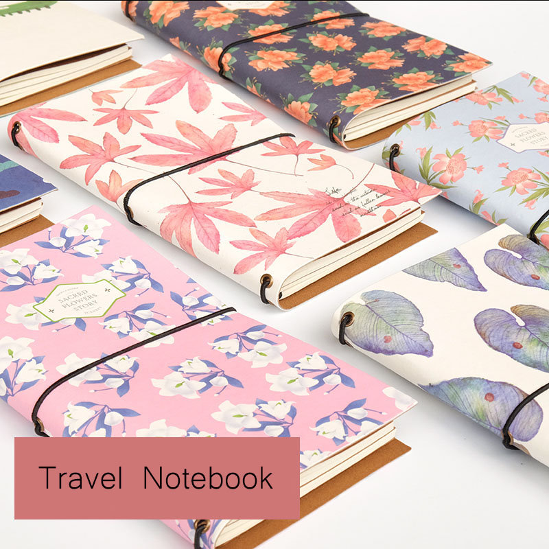 Traveler Notebook Creative Ladies Notebook Stationery Notepad Belt Diary Retro Travel Student School Supplies Office Business factory direct office supplies stationery 25 20 notebook korean creative diary custom thick notepad 1 pcs