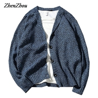 Solid Casual Sweater Men Cardigan 2017 New Autumn Winter Christmas Sweater Men Knitted Sweater Male V