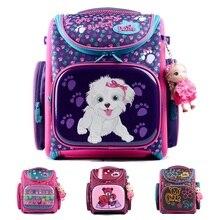 Delune школьный рюкзак медведь cat бабочка 3d печать desgine ева ортопедические детей школьного сумка девушки с тряпичной куклы винкс