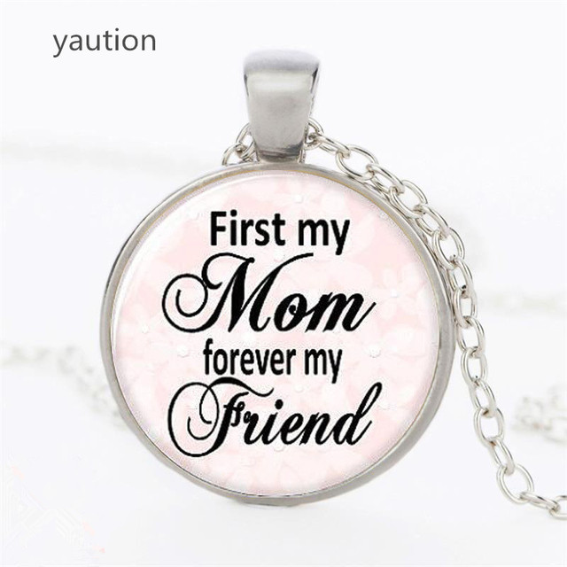 29ab0667a8297 US $0.62 43% OFF|Hot! Trendy Round Mothers Day Necklace You Are The Best  Mom Ever Pendant Glass Picture Jewelry Mother's Day Gift-in Pendant  Necklaces ...
