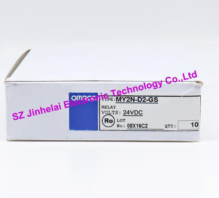 MY2N-D2-GS New and original OMRON Intermediate relay 24VDC, 2NO 2NC 5A 8pin [zob] new original omron omron beam photoelectric switch e3jk tr12 c 2m 2pcs lot