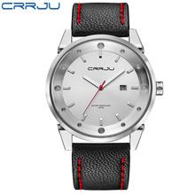 Zimowa wyprzedaż wyprzedaż zegarki sportowe supper good Men Watch Top marka luksusowy męski zegarek kwarcowy wodoodporne zegarki wojskowe tanie tanio CRRJU Klamra 3Bar QUARTZ STAINLESS STEEL 23cm Hardlex 12mm 24mm ROUND Kwarcowe Zegarki Na Rękę Papier CRRJU-2119 Skóra