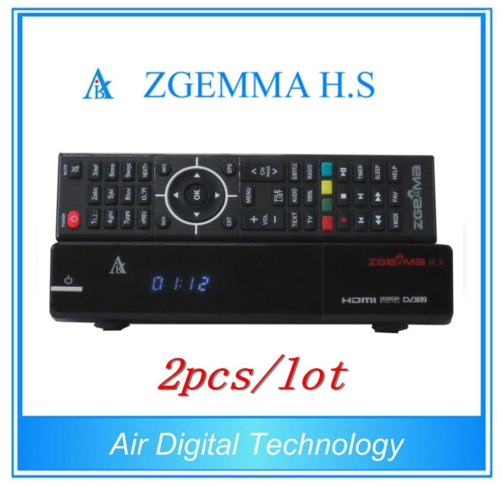 2pcs/lot Full Channels Softwares Zgemma H.S Satellite Receiver Dual Core Linux OS Enigma2 DVB-S One Tuner 10pcs zgemma star i55 support satip iptv box bcm7362 dual core mainchipset 2000 dmips cpu linux enigma 2 hdmi connection