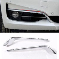 For BMW 3 Series GT Gran Turismo F34 2013 2017 ABS Chrome Front Fog Lamp Strips