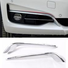 Para BMW Serie 3 GT Gran Turismo F34 2013-2017 ABS Chrome Tiras de La Lámpara Antiniebla delantera Párpado Recorte Conjunto de 2 unids Accesorios Del Coche