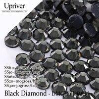 Toplu Ambalaj Elbise Aksesuarları Gri Tutkal Yüksek Kalite SS6 SS10 SS16 SS20 SS30 Black Diamond Düzeltme Rhinestones