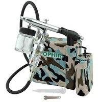 OPHIR Cake Airbrush Compressor Kit Dual Action Airbrush Spray Gun for Hobby Cosmetics Makeup Body Paint Nail Art Machine Kit