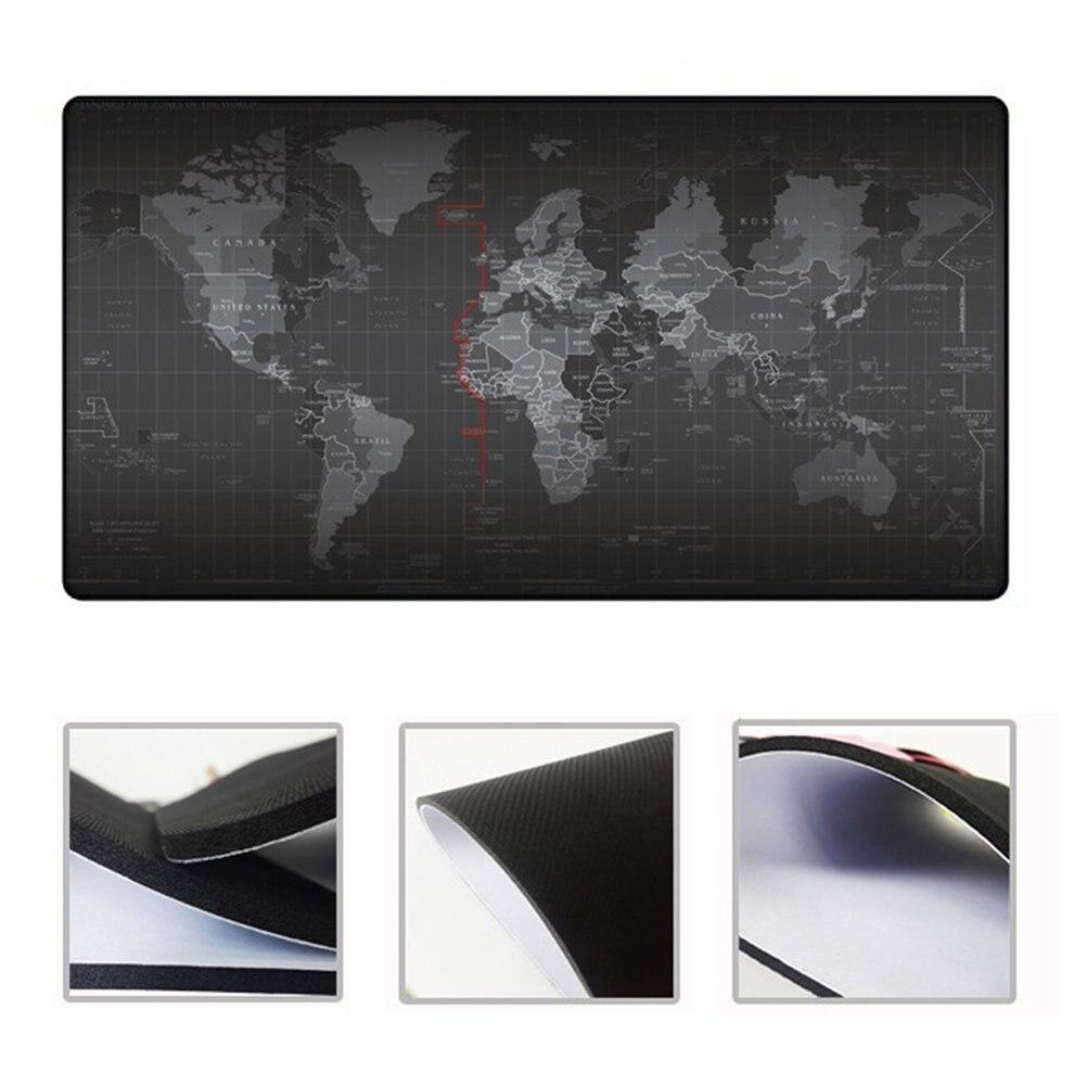 8 pièces 300X800X2mm étendu Super grande carte du monde clavier tapis de souris anti-dérapant tapis de souris