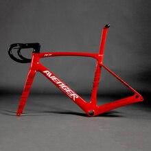 Telai carbonio disco Aero Road полный углеродного волокна велосипедные рамки Внутренняя прокладка троса Глянцевая R7 карбоновая дорога