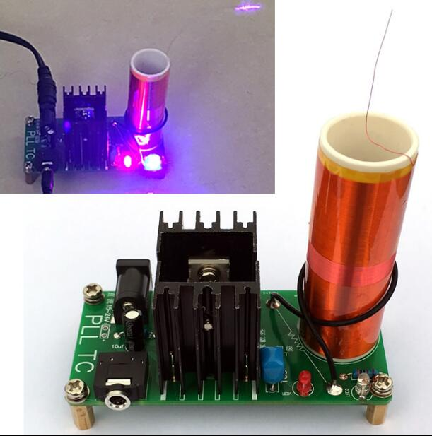 DIY Mini Tesla Coil Module Unassembled 15W DC 15-24V 2A Plasma Speaker Electronic Kit