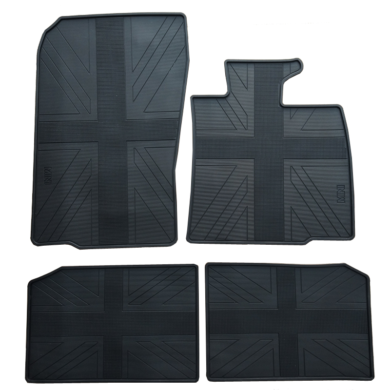 No Odor Special Waterproof Carpets Durable Rubber Car Floor Mats for RHD MINI Countryman R60 Right Hand Drive With Flag Design full cover right hand steering rhd waterproof carpets durable special car floor mats for chrysler 300c grand voyager most models