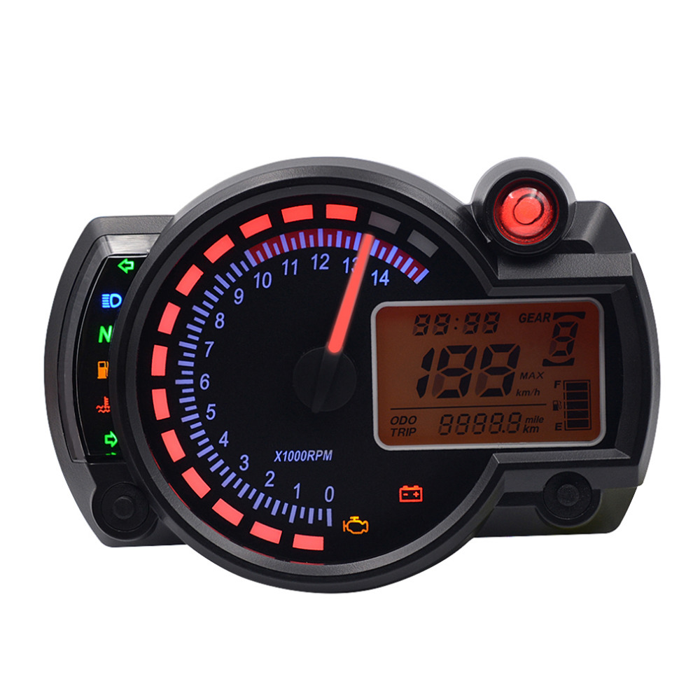 Newest Adjustable MAX 199km/h 15000rpm KOSO RX2N with LCD Display Digital Motorcycle Odometer Speedometer Hot Drop Shipping