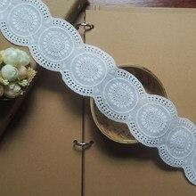 Personalizado feito manual diy acessórios algodão rendas bilateral puro algodão cortinas decorativas branco largo 6.5cm