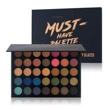 Professional 35 colors Shimmer Eyeshadow Pallete Matte Makeup Glitter Pigment Smoky Eye makeup eye shadows цена