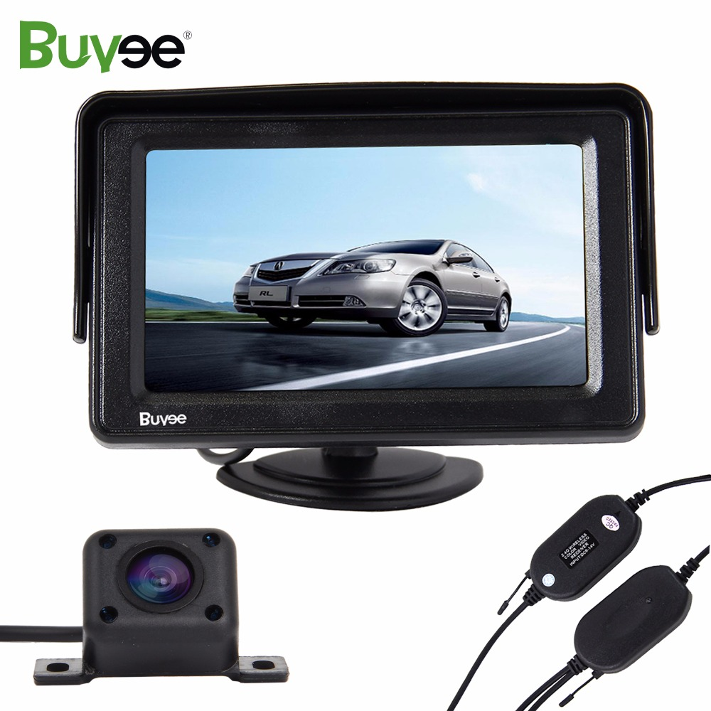 Buyee Wireless Parking assist system kit 4 3 quot LCD Car Monitor Rearview display HD IR Night Vision Parking Reverse car Camera in Vehicle Camera from Automobiles amp Motorcycles
