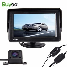 Buyee Wireless Parking assist system kit 4.3 LCD Car Monitor Rearview display + HD IR Night Vision Reverse car Camera