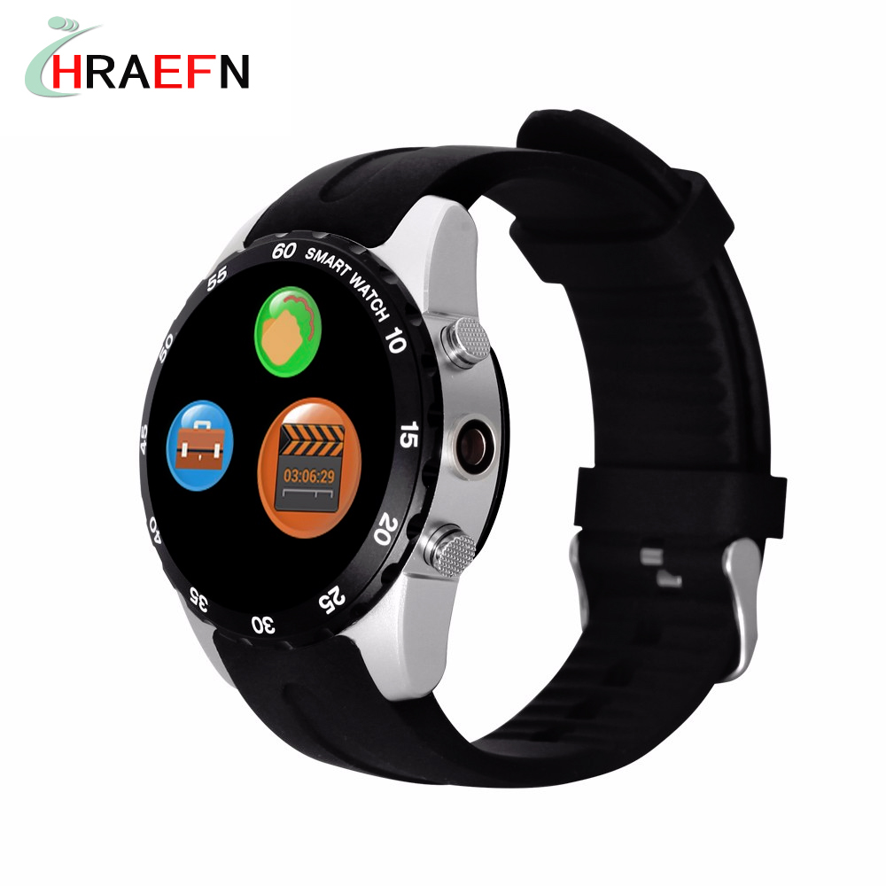 Hraefn Relogio inteligente KW08 Smart watch Heart Rate Monitor Smartwatch support SIM Card camera for Android IOS apple iphone