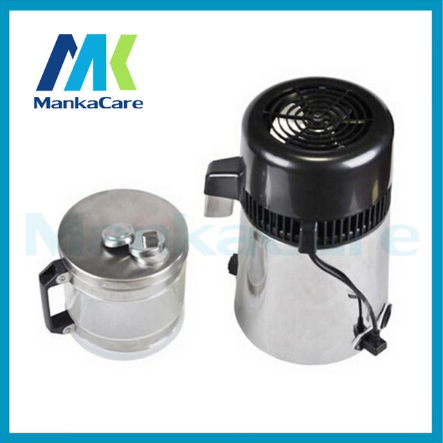 Destilador de Água de Aço inoxidável Barril De Vidro Distiling Máquina Esterilizador Profissional do Agregado Familiar Médica Clínica Dental