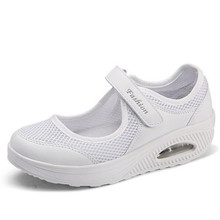 New summer mesh rocking shoes large size womens air cushion comfortable light 4 color 35-42 yards