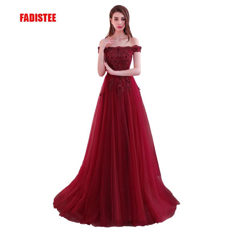 FADISTEE 2018 New arrival elegant party   dress     evening     dresses   Vestido de Festa lace gown beading appliques lace-up prom   dress