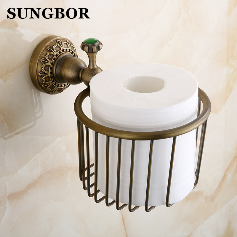 Antique bronze carved Bathroom copper roll paper holder,Roll baskets, Paper towel ring ,Tissue basket Toilet accessories black of toilet paper all copper toilet tissue box antique toilet paper basket american top hand cartons