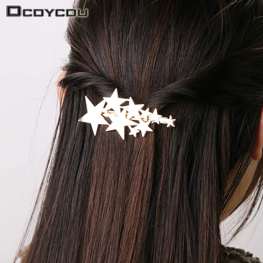Hair Jewelry Jewelry & Accessories Punctual Chic Crystal Rhinestones Hairpin Women Girls Fashion Star Triangle Round Shape Women Hair Clips Barrettes Hair Accessories