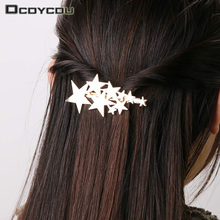 2PCS Gold Silver Star Barrettes Jewelry Hair Accessories Hairpins for Women Lady Girls Headwear Hair Clips цены