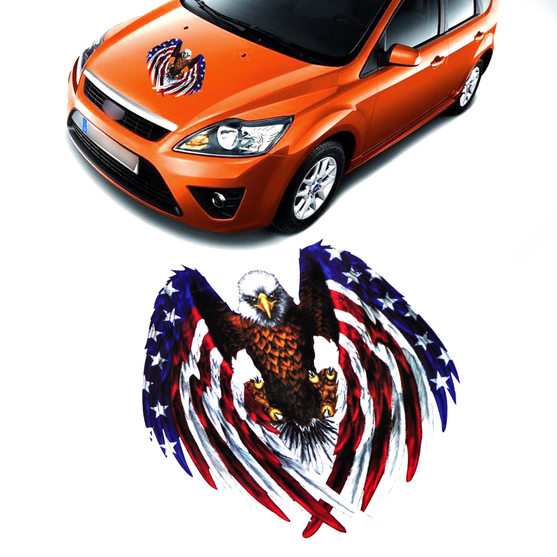 Car sticker eagle - Car Sticker Eagle American United States Usa Flag Sticker Decal Car Bumper Bike Laptop Window For